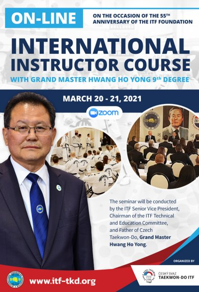ON-LINE INTERNATIONAL INSTRUCTOR COURSE WITH GM HWANG HO YONG