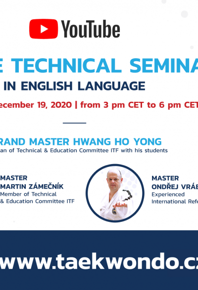 ONLINE TECHNICAL SEMINAR WITH GRAND MASTER HWANG HO YONG