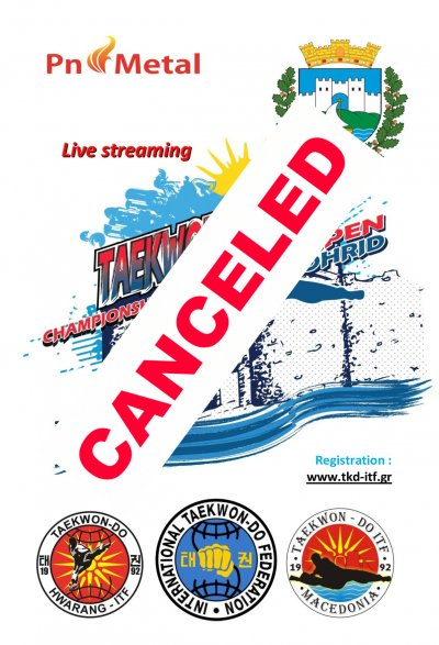 "CANCELED - ""OHRID OPEN 2020""  Taekwon-do ITF championship"